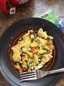 eggs, kale , sweet potato