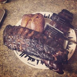Smoked chicken and ribs